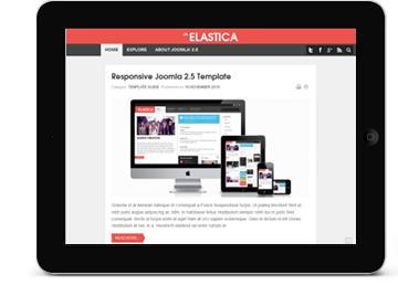 JA ElasticaWeb has spread to mobiles, tablets, netbooks and other handheld devices. Do you think your site is ready to serve them all? Responsive Joomla! templates are the answer to such now common design requirements. One template to serve them all...View demo